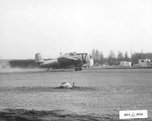 Avenger tanker departing Slave Lake 1969