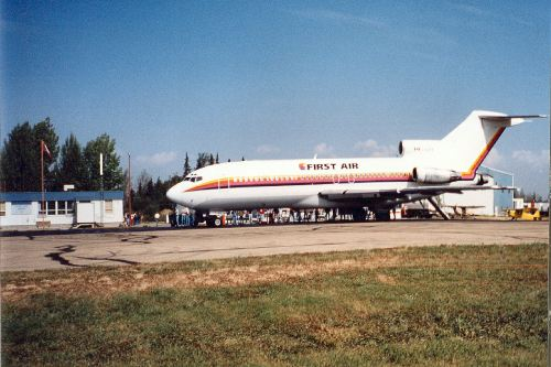 First Air 727 on GA Apron