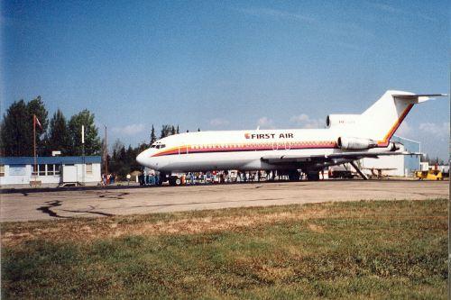 First Air 727 on GA Apron