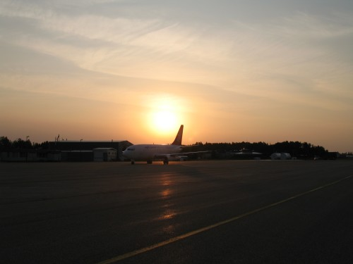 Air North 737 at Sunrise